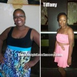Tiffany weight loss before and after