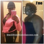 30 Day Weight Loss: J'me is down from a size 20 to a 14/16