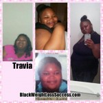 Travia lost 83 pounds