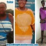 Tsitsi lost 75 pounds