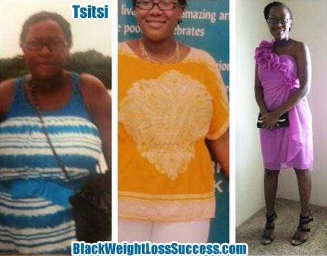 Tsitsi lost 75 pounds | Black Weight Loss Success