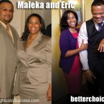 Maleka and her husband Eric lost a combined 300 pounds together!
