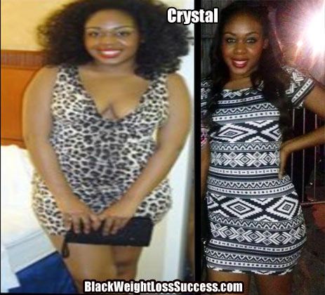 crystal lost 30 pounds  black weight loss success