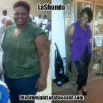 LaShunda lost 102 pounds