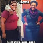 Daesha lost 62 pounds