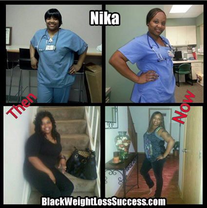 nika lost 79 pounds  black weight loss success
