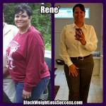 Rene lost 36 pounds