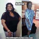 Andrea lost 68 pounds