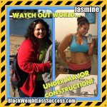 Jasmine lost almost 100 pounds