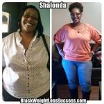 Shalonda lost 75 pounds