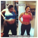 Tempest lost 75 pounds