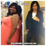 Melody lost 55 pounds