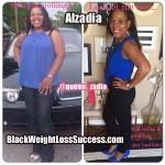 Alzadia lost 60 pounds