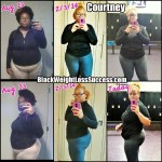 Courtney lost 65 pounds