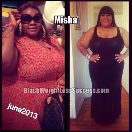 misha' lost 48 pounds  black weight loss success