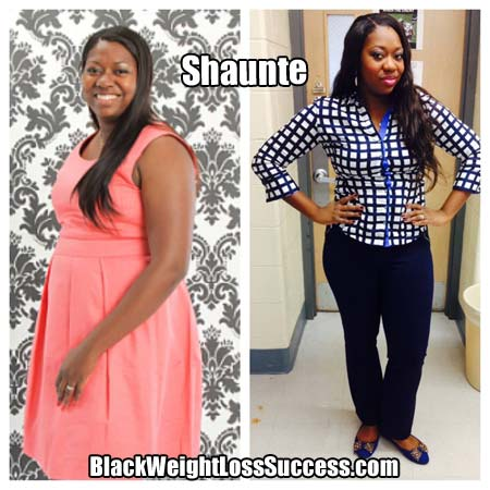 20 Pound Difference Shaunte Lost 23 Pounds Black Weight