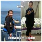 Venisa lost 100 pounds