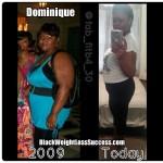 Dominique lost 32 pounds