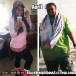 April lost 91 pounds
