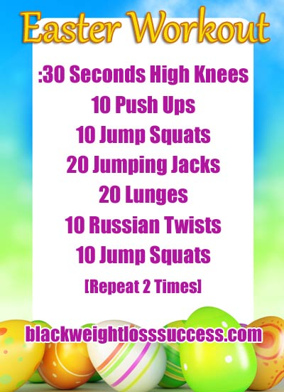 Day 20 April Challenge - Easter Workout | Black Weight ...