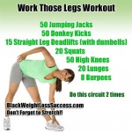 Day #8 Work Those Legs Workout – April Challenge