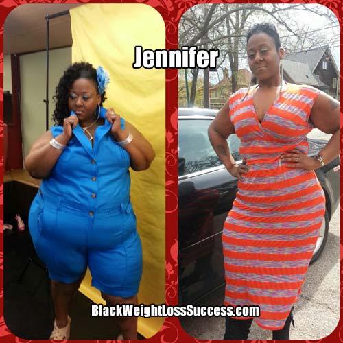 Jennifer lost 130 pounds | Black Weight Loss Success