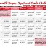 July 2014 Challenge: Burn with Burpees, Squats and Cardio