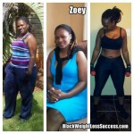 South African Success: Zoey lost 57 pounds
