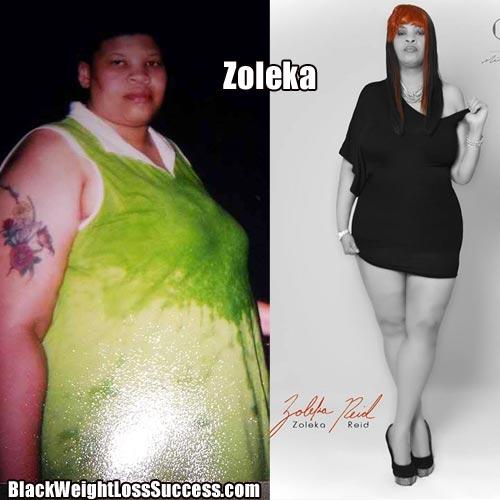 Zoleka Lost 125 Pounds Black Weight Loss Success