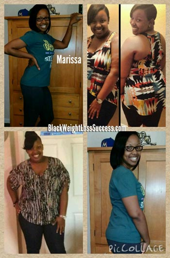 Marissa lost 76 pounds | Black Weight Loss Success