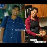 Tamara lost 107 pounds