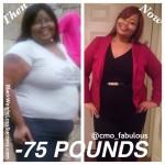 Christal lost 75 pounds
