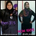 Wafa lost 116 pounds