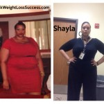 Shayla lost 57 pounds