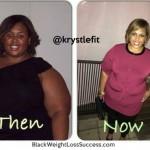 Krystle lost 70 pounds