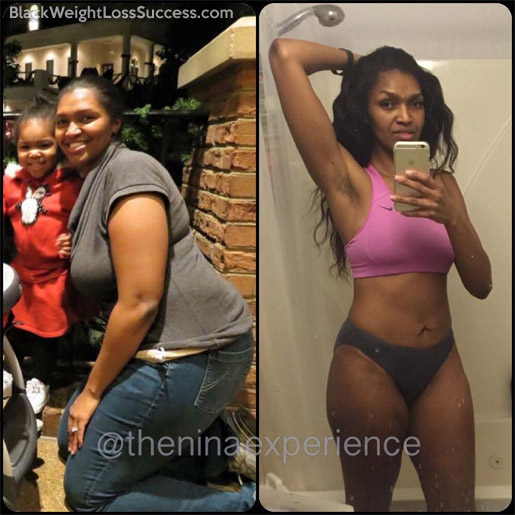 Nina lost 80 pounds | Black Weight Loss Success