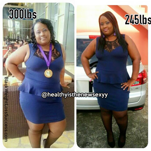 Rachel lost 55 pounds | Black Weight Loss Success