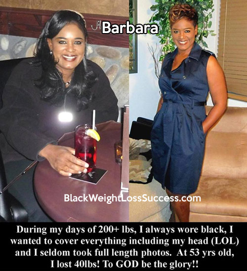 Barbara lost 44 pounds | Black Weight Loss Success