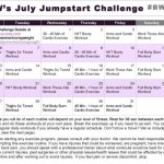 July 2015 – July Jumpstart Workout Challenge