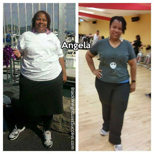 Angela lost 50 pounds | Black Weight Loss Success