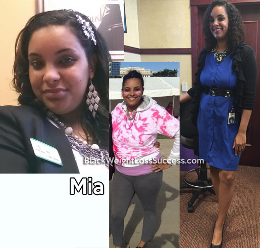 Mia lost 52 pounds | Black Weight Loss Success