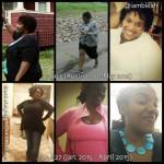 B.Leah lost 70 pounds