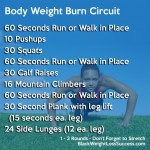 Body Weight Burn Workout Circuit