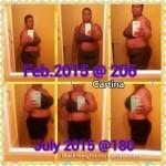 Cartina lost 26 pounds