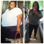 Christy lost 161 pounds