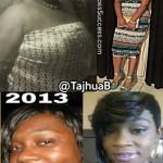TaJhua lost 85 pounds