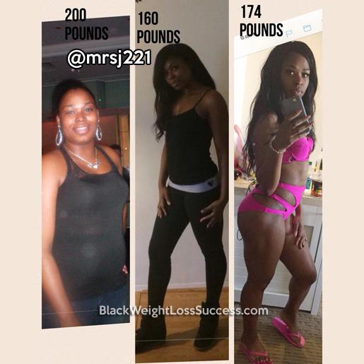 Yanica Lost 40 Pounds Black Weight Loss Success