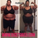 Paulique lost 90 pounds