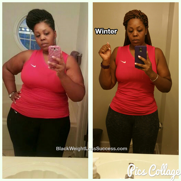 Winter lost 65 pounds | Black Weight Loss Success