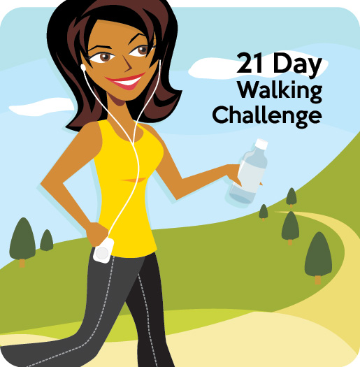 may 21 day brisk walking challenge